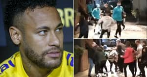 Neymar Left Limping Into Brazil Team Hotel After Fans Escape Security And Slide Tackle Him