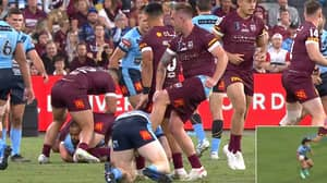 Queensland Star Cameron Munster In Hot Water After Kicking Out At State Of Origin Rival