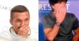 Lukas Podolski Comments On Joachim Low's Ball Sniffing