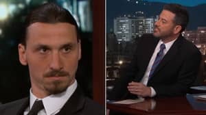 Zlatan Ibrahimovic Doesn't React Well When Jimmy Kimmel Refers To Football As 'Soccer'