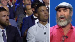 It's Exactly Two Years Since Eric Cantona Left Cristiano Ronaldo And Lionel Messi Stunned With Acceptance Speech