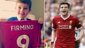 Andy Robertson Sends Present To Young Fan Who Gave Pocket Money To Charity