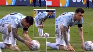 Footage Shows Lionel Messi's Incredible Focus And Preparation Before A Free-Kick