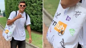 Atalanta Midfielder Matteo Pessina Returns To Training With A PornHub Bag