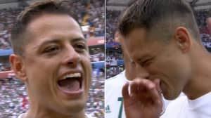 Javier 'Chicharito' Hernandez Sings The Mexico National Anthem So Loud, It's Incredible