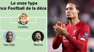 Liverpool Star Virgil Van Dijk Named In France Football's Team Of The Decade