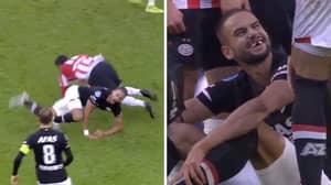 AZ Alkmaar Defender Pantelis Hatzidiakos Loses Front Teeth After Sickening Challenge