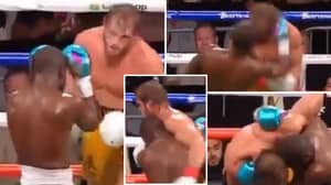 Fans Claim Floyd Mayweather Refused To Let Logan Paul Go Down After 'Knocking Him Out' In Damning Footage