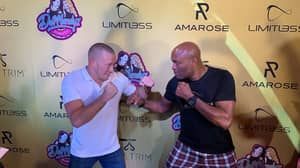 Anderson Silva And Georges St-Pierre Squared Off In Las Vegas This Weekend