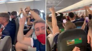 Footage Of Scotland Fans Singing 'Yes Sir, I Can Boogie!' At 30,000 Feet Is Brilliant
