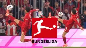 Robert Lewandowski Produces Insane Touch And Becomes The Bundesliga Logo