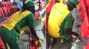 Watch: Senegal Fans Clean Up Their Section Before Leaving The Ground In Brilliant Scenes