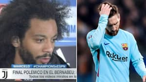 Marcelo Savagely Trolls Barcelona After Real Madrid Advance To Champions League Semi-Final