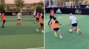 Zinedine Zidane Shows He's Still Got It In Five-A-Side Kickabout With His Sons