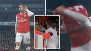 "Granit Xhaka Tells Arsenal Fans To ""F**k Off"" As He's Substituted"