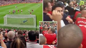 Aston Villa Fan Wildly Celebrates Bruno Fernandes' Penalty Miss In Home End And It's Carnage