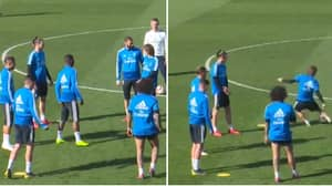 Luka Modric Loses It With Gareth Bale In Real Madrid Training