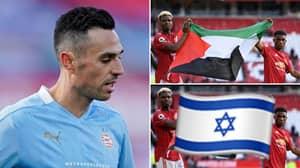 PSV's Eran Zahavi Once Again Replaces Palestine Flag With Israel One