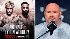 Dana White Gives His Prediction For Jake Paul vs Tyron Woodley