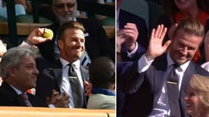 Throwback To When David Beckham Caught A Tennis Ball At Wimbledon