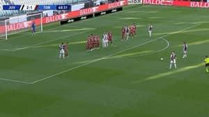 Cristiano Ronaldo Used A Different Technique For His Latest Free-Kick Goal