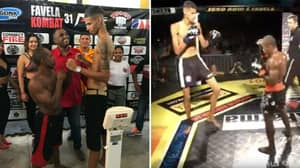 A 5 Foot 4 Fighter Fought A 6 Foot 7 Fighter In An MMA Bout And It Was Mental