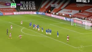 Granit Xhaka Curls In Glorious 25-Yard Free-Kick For Arsenal vs Chelsea
