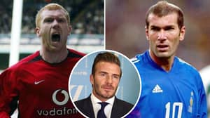David Beckham Asked Who Was Better Out Of Paul Scholes And Zinedine Zidane
