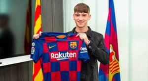 Barcelona Wonderkid Louie Barry,16, Set To Join Aston Villa For £3 Million