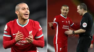 Thiago Brutally Mocked By Rival Fans Yet Again After Liverpool's Shock 1-0 Loss To Brighton