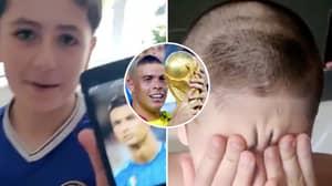 Son Asks Dad For Haircut Like Cristiano Ronaldo, Gives Him 'R9' Ronaldo Instead