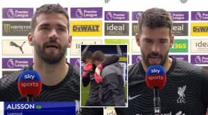 Alisson Explains Emotional Reaction To Winner Was Because He Wished His Father Could See It