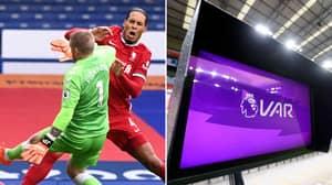 Video Referee 'Didn't Know' He Could Send Jordan Pickford Off For Horrific Virgil Van Dijk Challenge