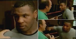 Young Mike Tyson Scares TV Interviewer With Vicious Punching Display