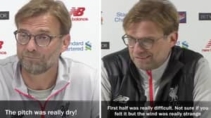 Someone's Made A Video Of Every Time Jurgen Klopp's Blamed The Weather