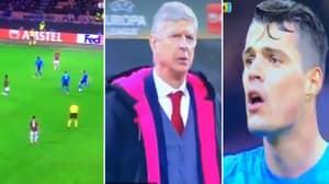 Fans Reckon Granit Xhaka Hurled An Expletive At Arsene Wenger Last Night