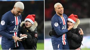 Kylian Mbappe Signed A Young Fan's Book After He Invaded The Pitch Last Night