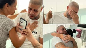 Adriano Breaks Down In Tears After Being Inducted Into The Maracana Stadium Walk of Fame