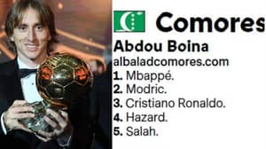 Journalist Who Voted In Ballon d'Or Doesn't Even Exist