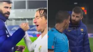 Gerard Pique And Luka Modric Had An Argument At Full Time