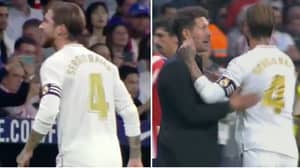 Sergio Ramos' Disrespectful Actions Towards Official In Madrid Derby Could Land Him A Big Ban
