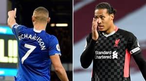 Everton's Richarlison Brutally Trolls Liverpool After 7-2 Humiliation Against Aston Villa