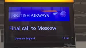 British Airways Dishes Out Free Southgate Waistcoats For Customers Flying To Moscow