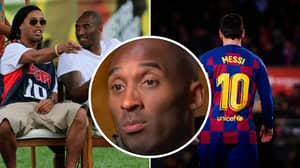 When Ronaldinho Introduced Kobe Bryant To 17-Year-Old Lionel Messi