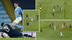 Phil Foden Makes Football Look So Easy And A Lionel Messi-Esque Run Against PSG Proves That