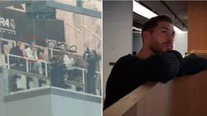 Sergio Ramos Was Recording Amazon Documentary About Himself At The Bernabeu Last Night