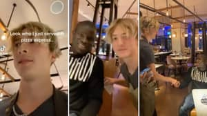 Pizza Express Waiter Meets N'Golo Kante In Restaurant And Films The Entire Thing