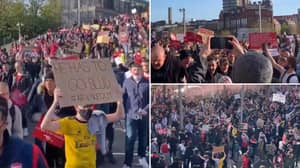 Thousands Of Arsenal Fans Are Protesting Against Owner Stan Kroenke Outside The Emirates
