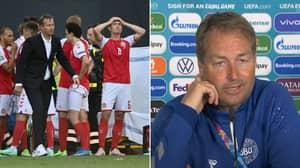 Denmark Coach Kasper Hjulmand Breaks Down In Tears When Asked About Christian Eriksen