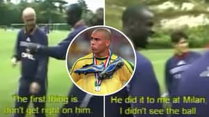 Training Clip Of France Players Trying To Stop 'R9' Ronaldo Before '98 World Cup Is Fascinating